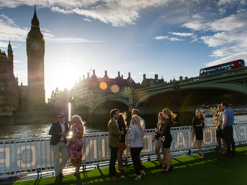 Thames Weddings - Unique London Wedding Venues - Thames Garden Boat Rooftop